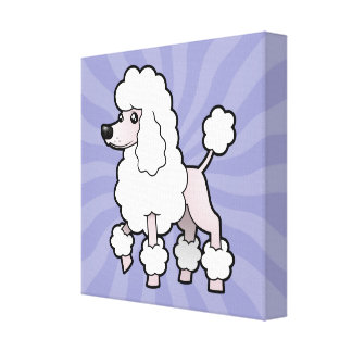 Cartoon Standard/Miniature/Toy Poodle (show cut) Canvas Print