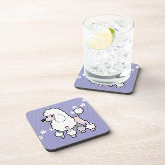Cartoon Standard/Miniature/Toy Poodle (show cut) Drink Coaster