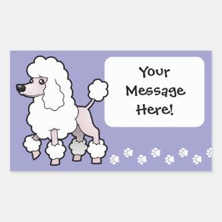Cartoon Standard/Miniature/Toy Poodle (show cut) Stickers