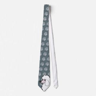 Cartoon Standard/Miniature/Toy Poodle (show cut) Tie