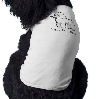 Cartoon Standard/Miniature/Toy Poodle Sleeveless Dog Shirt