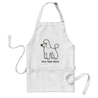 Cartoon Standard/Miniature/Toy Poodle Standard Apron