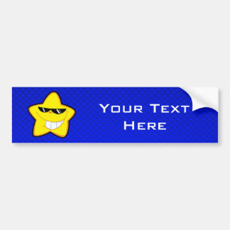 Cartoon Star; Blue Bumper Stickers