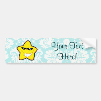 Cartoon Star; Cute Bumper Sticker
