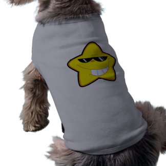 Cartoon Star; Metal-look Sleeveless Dog Shirt