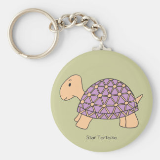 Cartoon Star Tortoise Keychain (#2 purple)