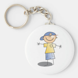Cartoon Stick Boy Keychain