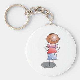 Cartoon Stick Boy Keychains