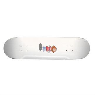 Cartoon Stick Boy Skateboard Deck