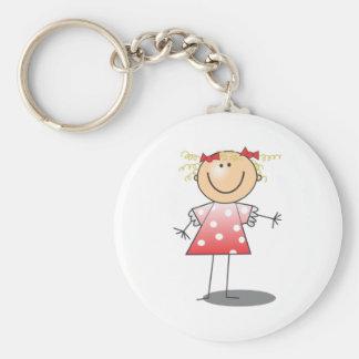 Cartoon Stick Girl Keychains