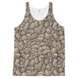 Cartoon Stone Texture All-Over Print Tank Top