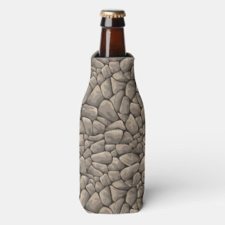 Cartoon Stone Texture Bottle Cooler