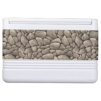 Cartoon Stone Texture Igloo Cooler