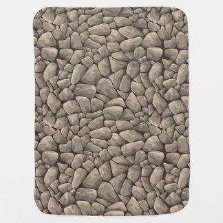 Cartoon Stone Texture Pramblanket