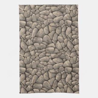 Cartoon Stone Texture Tea Towel