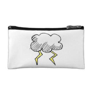Cartoon Storm cloud Design Cosmetics Bags