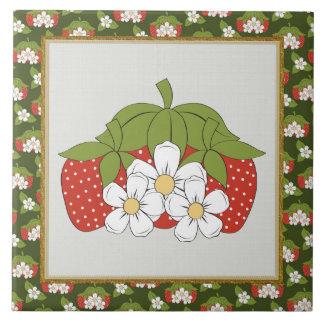Cartoon Strawberry kitchen or Restraunt tile