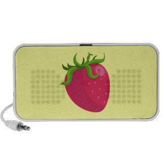 Cartoon Strawberry Laptop Speaker