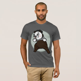 CARTOON STYLE GRIZZLY BEAR MIME T-SHIRT