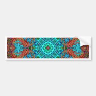 Cartoon Style Mandala Factory Piece Work Eight Bumper Sticker