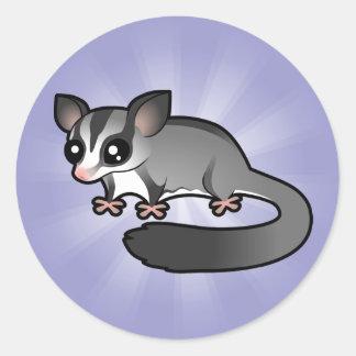 Cartoon Sugar Glider Round Sticker