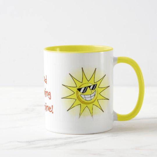 cartoon_sun_01, Good Morning Sunshine!, Sunset ... Mug