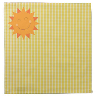 Cartoon sun napkin
