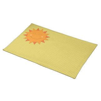 Cartoon sun placemat