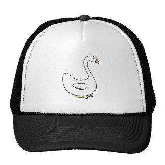 Cartoon Swan Design Trucker Hats