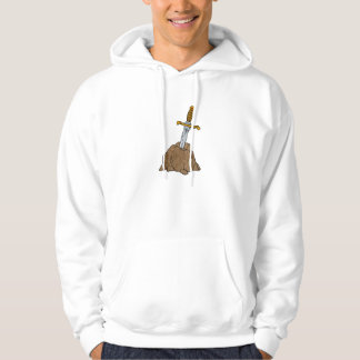 cartoon sword in stone hoodie