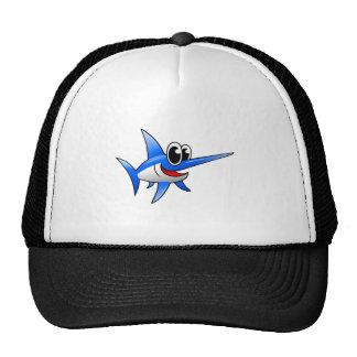 Cartoon Swordfish Mesh Hats