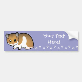 Cartoon Syrian Hamster Bumper Sticker
