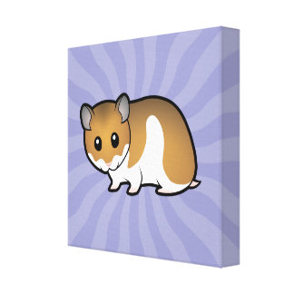 Cartoon Syrian Hamster Canvas Print