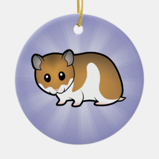 Cartoon Syrian Hamster Christmas Ornament