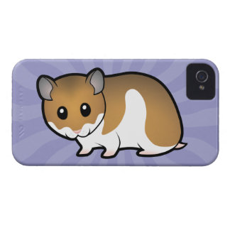 Cartoon Syrian Hamster iPhone 4 Case