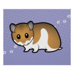 Cartoon Syrian Hamster Poster