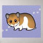 Cartoon Syrian Hamster Poster