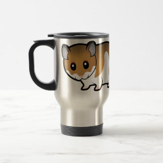 Cartoon Syrian Hamster Travel Mug