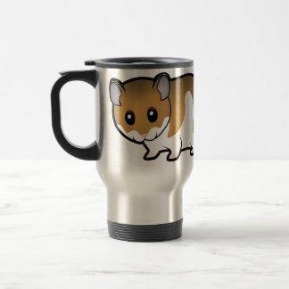 Cartoon Syrian Hamster Travel Mug