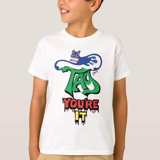 Cartoon Tag you're it t shirt