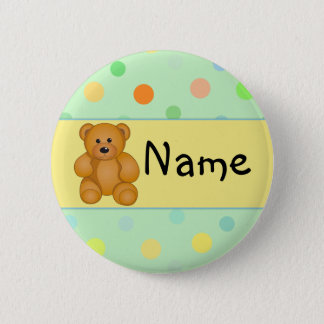 Cartoon Teddy Design 6 Cm Round Badge