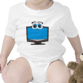 Cartoon Television Blue Romper