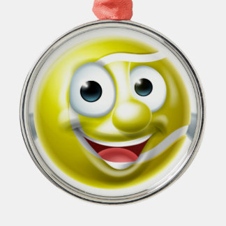 Cartoon Tennis Ball Man Silver-Colored Round Decoration