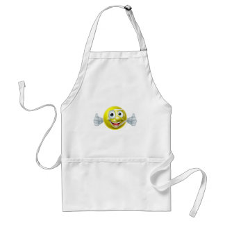 Cartoon Tennis Ball Man Standard Apron