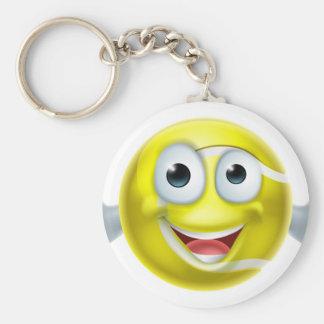 Cartoon Tennis Ball Thumbs Up Man Character Basic Round Button Key Ring