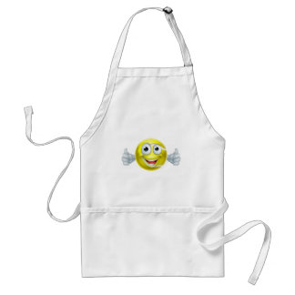 Cartoon Tennis Ball Thumbs Up Man Character Standard Apron