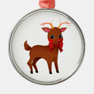 Cartoon the Red-Nosed Reindeer w/ Bow Tie Christmas Ornament