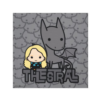 Cartoon Thestral and Luna Character Art Canvas Print