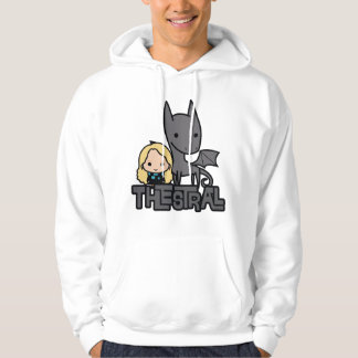 Cartoon Thestral and Luna Character Art Hoodie