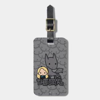 Cartoon Thestral and Luna Character Art Luggage Tag